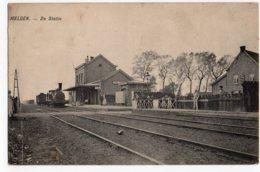 Melden Statie Station Gare Met Tram - België