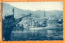 Lip176, Le Port De Monaco, Bateau , Voilier Deux Mâts, Animée, Boat, Non Circulée - Harbor