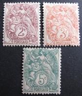 DF50500/153 - 1902 - TYPE BLANC - COLONIES FR. - PORT SAÎD (EGYPTE) N°21 à 23 NEUFS/(*) - Neufs