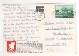 Beau Timbre , Stamp Yvert N° 318 Sur Cp , Carte , Postcard Du 05/08/1975 Pour La France - 1949-... Republic Of Ireland