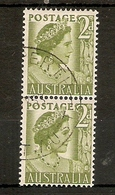 AUSTRALIA 1950 - 1952 2d COIL PAIR SG 237a FINE USED Cat £10 - 1937-52 George VI