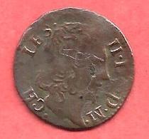 DENIER TOVRNOIS , CHARLES II De GONZAGUE , Principauté D'ARCHES - CHARLEVILLE , 1652 - 987-1789 Monnaies Royales