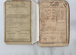 VP14.368 - MILITARIA - ROMANS - Guerre 14 / 18 - Livret Militaire De Mr Louis VALLET De VALENCE - Documentos