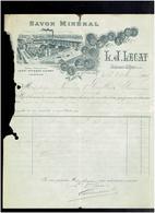 FACTURE 1899 SAVON MINERAL LECAT A MAISONS ALFORT - Droguerie & Parfumerie