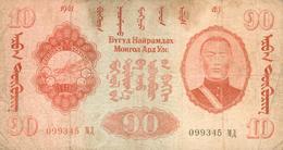 10 TOUGRIK 1941 - Mongolia
