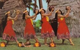 Hawaii Honolulu Kent Gihrard's Nani Hula Girls In Pahu Skirts - Honolulu