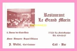 CARTE DE VISITE Restaurant   Le Grand Morin  LA FERTE GAUCHER - Cartes De Visite