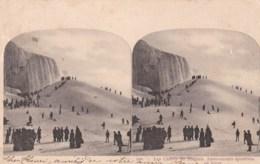 Carte Stéréoscopique 506 - Les Chutes Du Niagara -Amusements Sportives En Hiver. - Stereoscopische Kaarten