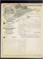 FACTURE 1904 ALFRED CERTEUX 3 RUE OBLIN A PARIS USINE 3 PASSAGE DE L ATLAS A PARIS 19e FARINE FECULE PATES LEGUMES - Levensmiddelen