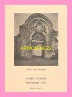 TICKET   D ENTREE De L Abbaye SAINT  WANDRILLE - Tickets D'entrée