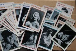 Lot De 53 Fiches Portraits De Stars Cinéma, 1991 - Autres Collections
