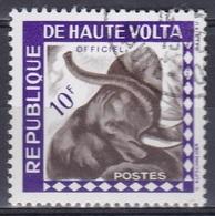 Obervolta Upper Volta Haute Volta 1963 Dienstmarke Tiere Fauna Animals Elefanten Elephants, Mi. 3 Gest. - Obervolta (1958-1984)