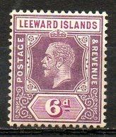 GRANDE BRETAGNE (Ex-cololies) - LEEWARD - 1913-22 - N° 53- 6 P. Violet Et Lilas - (George V) - Leeward  Islands
