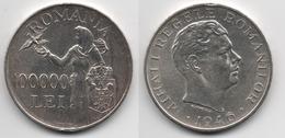 + ROUMANIE+  100000 LEI 1946 + TRES BELLE + ARGENT + - Roumanie