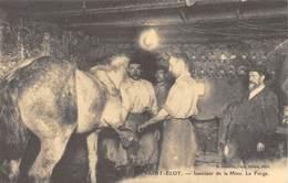 Saint-Eloy - Intérieur De La Mine - La Forge - Cheval - Maréchal-Ferrant - Cecodi N'1101 - Saint Eloy Les Mines