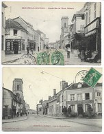 BRIENNE Le CHÂTEAU 1917 Journaux ANTOINE + 1910 RUE Aube En Champagne Vendeuvre Chavanges Dienville Bossancourt Jessains - France