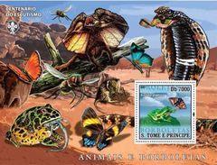 S. TOME & PRINCIPE 2007 - Butterflies, Frogs S/S - Frösche