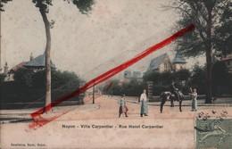 (Oise) Noyon - 60 - Villa Carpentier, Rue Henri Carpentier (animée, Colorisée) Circulé 1905 - Noyon
