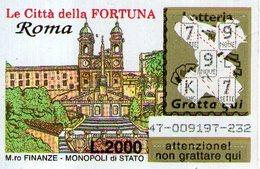 B 2380 - Gratta E Vinci, Le Città Della Fortuna, Roma - Biglietti Della Lotteria