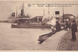 Antwerpen Scheldezicht Plaatsing Der Booten Red Star Line Circulée En 1928 - Antwerpen