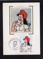 Jean Effel,Illustrateur....... Né à Paris 75 / Carte Maximum Premier Jour,cachet à Date 1983 - Célébrités