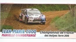 CHAMPIONNAT DE FRANCE RALLYES TERRE 2016 - Jean Marie CUOQ - Citroen C4 - Rallyes