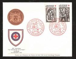 France YT 1323 / 1324 Fdc 1er Jour Croix Rouge Paire Sur Enveloppe Avec Ecusson De Bourges Luxe ROUAULT - France