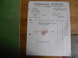 FACTURE AVON  ETABLISSEMENT FOURNIER 61 AVENUE DE FONTAINEBLEAU 1933 EQUIPEMENTS  ELECTRIQUES  POUR AUTOMOBILES - France