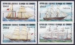 Komoren Comoros Comores 1984 Transport Schifffahrt Shipping Seefahrt Schiffe Ships Segelschiffe, Mi. 718-1 ** Imperf. - Komoren (1975-...)