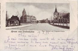 80 F CPA Gruss Aus Diedenhofen Poste Gare Et Casino Très Bon état - Autres Communes