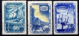 RUSSIE - 2069/2071* - ANNEE GEOPHYSIQUE INTERNATIONALE - 1923-1991 URSS