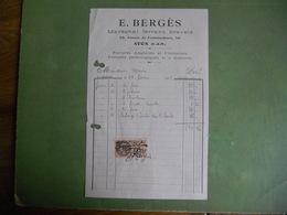 FACTURE AVON  MARECHAL FERRANT BREVETE  59 AVENUE DE FONTAINEBLEAU 1929 FERRURES ANGLAISES ET PATHOLOGIQUES - Petits Métiers
