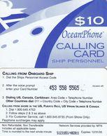 US VIRGIN ISLANDS - Oceanphone By MTN Satelite Prepaid Card $10, Exp.date 31/12/05, Used - Virgin Islands