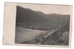 +2470 , FOTO-AK, WK I, KRIEGSBRÜCKE BEI SUGOVAC IN SERBIEN  DEZ 1916 - War 1914-18