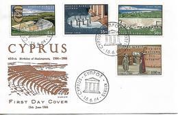 CYPRUS 1964 400th Anniv Of William Shakespeare FDC UNUSED - Storia Postale