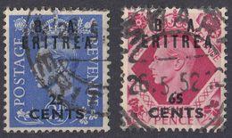 AMMINISTRAZIONE CIVILE BRITANNICA In ERITREA - 1950 - Lotto Di Due Valori Usati: Yvert 16 E 20. - South West Africa (1923-1990)