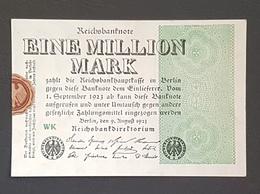 EBN8 - Germany 1923 Banknote 1 Millionen Mark Pick 102a #WK - [ 3] 1918-1933 : Weimar Republic