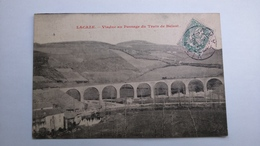 Carte Postale ( L7 ) Ancienne De Lacaze  , Viaduc Au Passage Du Train - Frankreich