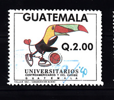 Guatemala 1990 Mi Nr 1315 ;  Universiteit Spelen, Sport , Basketball - Guatemala