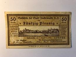 Allemagne Notgeld Finsterwalde 50 Pfennig - Collections
