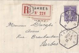 65 - HAUTES PYRENEES - TARBES B - 1911/13 - TàD De Type  D4 - Manual Postmarks