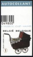 Belgium 2008 Mi. 3802 COB 3755 Imperforated MNH, Children's Toys, Pram, Baby /Puppet Carriage, Landau - Marionnettes