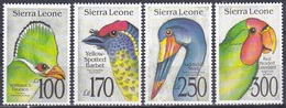 Sierra Leone 1992 Tiere Fauna Animals Vögel Birds Oiseaux Aves Uccelli Turako Bartvogel Storch, Aus Mi. 1827-4 ** - Sierra Leone (1961-...)