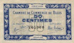 1328-2019     CHAMBRE DE COMMERCE DE  BLOIS 50 CENTIMES - Chambre De Commerce