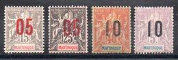 MARTINIQUE - YT N° 78 à 81 - Neufs * - MH - Cote: 10,25 € - Martinique (1886-1947)