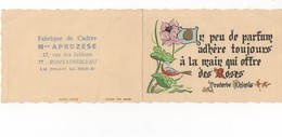 CALENDRIER PETIT FORMAT CRANTE DE 1978 PROVERBE CHINOIS -   PUBLICITE  FABRIQUE DE CADRES MON APRUZESE - FONTAINEBLEAU - Calendriers