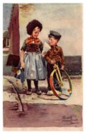 Valentine  Dutch Boy On Unicycle - Saint-Valentin