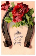 Valentine Horseshoe With Flowers - Saint-Valentin