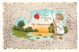 Valentine  Boy Fishing For My Valentine - Saint-Valentin
