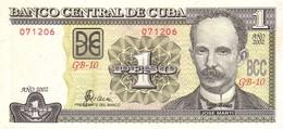 Cuba P 128 1 Peso 2002 UNC - Cuba